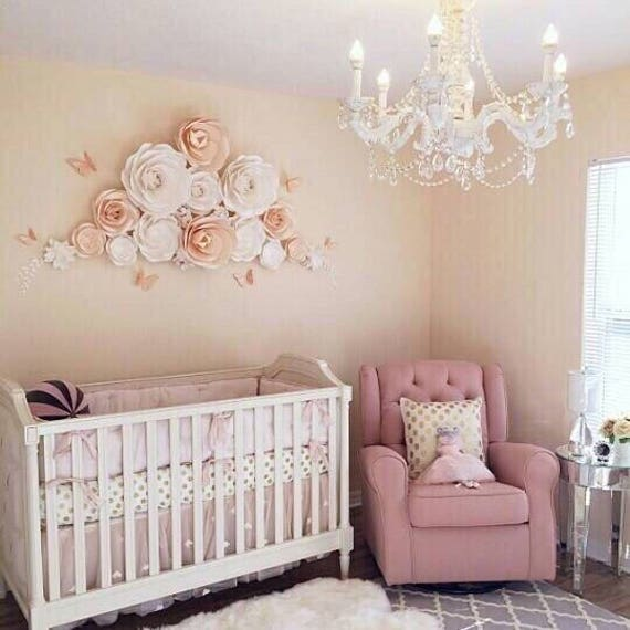 Diy Baby Nursery Floral Wall Decor: Large Paper Flowers Nursery Wall Decor Giant Paper Flowers
