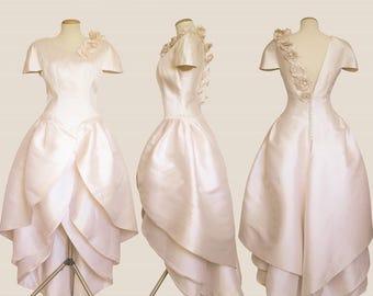 Gorgeous Vintage satin wedding dress