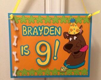 Scooby Doo Birthday Door Sign