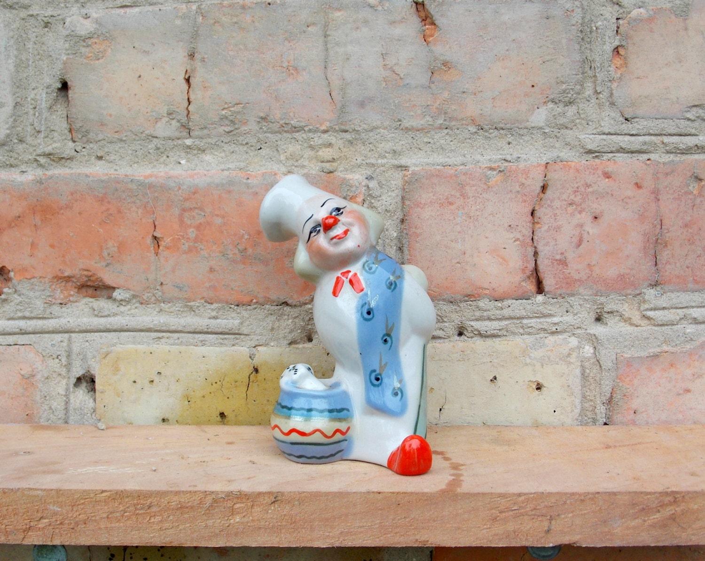 Porzellan Figur Clown Koch Vintage Figur sowjetische