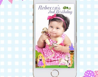 Snapchat GeoFilters, Birthday Snapchat Filters, Party Snapchat Filter, Princess Snapchat GeoFilter, Tangled Birthday Party, Rapunzel Filter