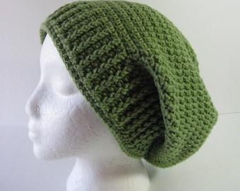 Womens Crochet Slouchy Beanie Hat, Womens Crochet Slouchy Hat, Green Slouchy, Green Slouchy Hat, Slouchy Beanie, Oversized Slouchy Hat, Teen