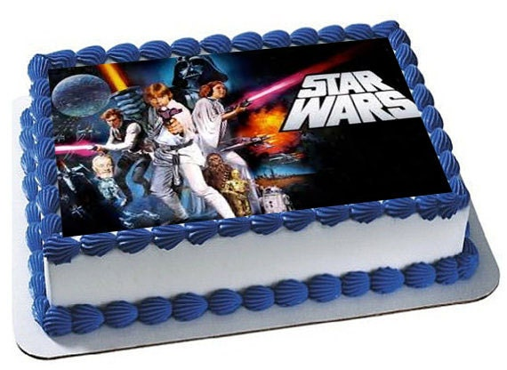 Star Wars Cake Topper Star Wars Birthday Party Star Wars