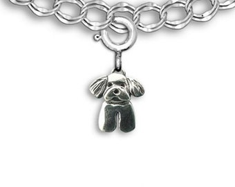 Sterling Silver Maltese Puppy Charm