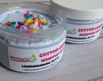 Cotton Candy Whipped Soap, Fluffy Whipped Soap, Body Frosting, Luxurious Cream soap, Foaming Body Frosting, Foaming Bath Whipped Soap