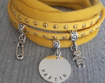Engraved name bracelet