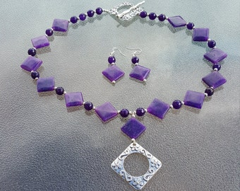 Butterfly Amethyst Necklace