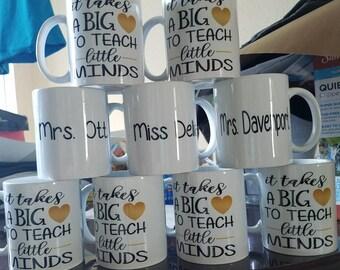 Teacher appreciation gift mugs