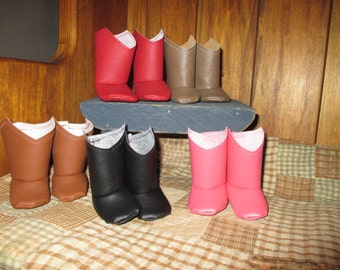 Cowgirl Boots for your 18 inch American Girl Doll (5 different color choices)