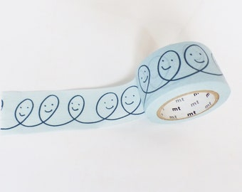 Washi tape, washi tape SMILES BALLOONS blue sky background 27 mm x 10 m, masking tape, gift wrapping, creations
