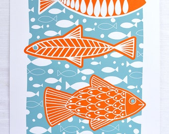 "Just Keep Swimming 12.5""x19"" Screen Print"