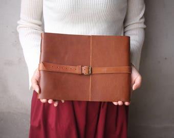 Handmade Leather Photo Album, Leather Album, Baby Album, Distressed Scrapbook Album, Leather Wedding Guestbook