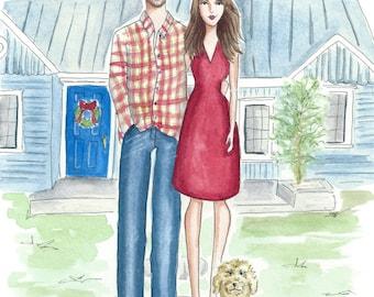 Custom Couple Illustration.