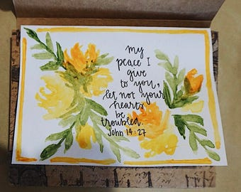 Scripture Watercolor Stationery