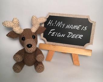 Reindeer Stuffed Animal - Reindeer Toy - Handmade Stuffed Animals - Christmas Decorations - Christmas Toys - Reindeer Dolls - Xmas Decor