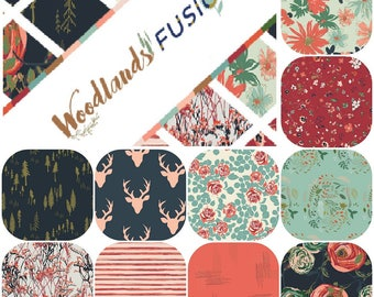Fat Quarter Bundle (10) WOODLAND FUSION by Art Gallery Fabrics Fat Quarters