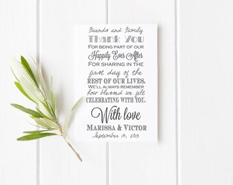 Clear Block Custom wedding rubber stamp Thank you for being part of our day rubber stamp --5719
