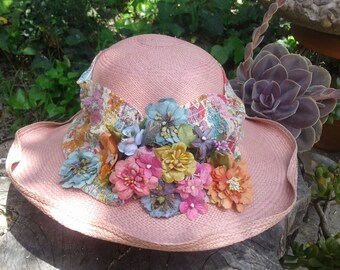 Spring Flower Garden Straw Hat