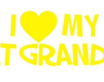 "FREE SHIPPING //  8x1.894"" I Love My Great Grandkids Car Decal - Grandma - Grandpa - Vinyl Decal - Grandkids - Papa - Mama - Mimi - Vehicle"