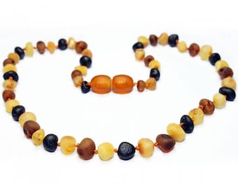 Genuine Raw Baltic Amber Baby Teething Necklace Mixed