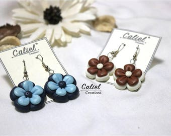 Fimo Flower Earrings