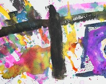 Abstract original artwork by Jodeen Betton 'the flower'