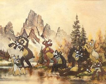 Impression de huit ours en colère 8.5 x 11