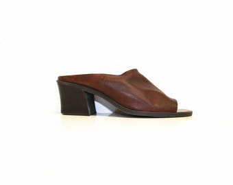 Women's Leather Mules/ 7 1/2 M