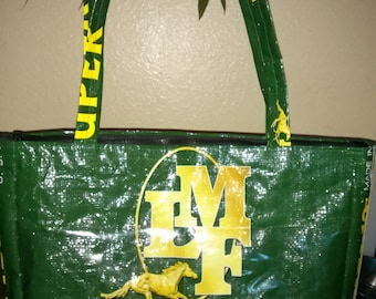 Purse from Repurposed Horse  Feed Bag