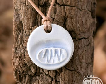 Mitochondrion necklace, science jewellery for cell biologists, cell organelle pendant