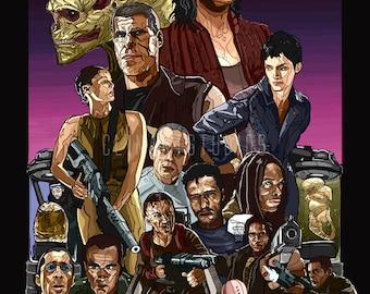 Alien Resurrection Poster Print Original 13 in x 19 in.