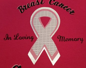 Customized Breast Cancer Awareness pink T-shirt