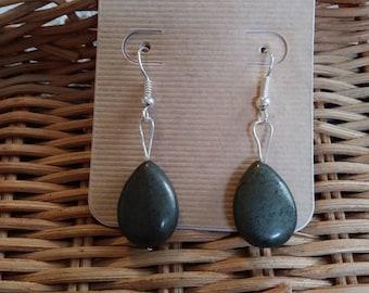 Natural Pyrite Earrings (Nickel Free Hooks)