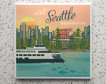 Visit Seattle Tile Coaster