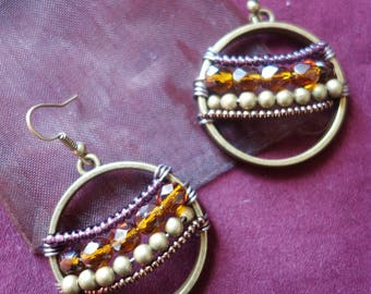 Bohemian hoop earrings beads