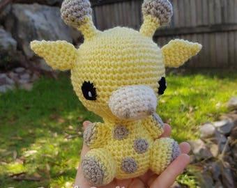 Crochet Giraffe / soft toy / amigurumi / handmade plush animal / baby toy