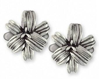Lily Cufflinks Jewelry Sterling Silver Handmade Flower Cufflinks LLY-CL