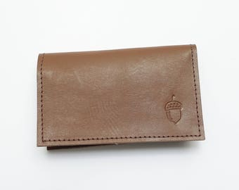 Folded Leather Card Wallet