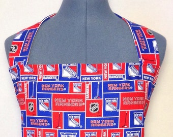 New York Rangers- Full Size BBQ Apron with Pockets