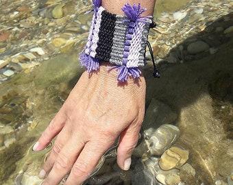 Bracelet, Boho bracelet, Greek Jewelry,  Woven bracelet, Summer, Handmade, Woven jewelry, Loom, Made in Greece