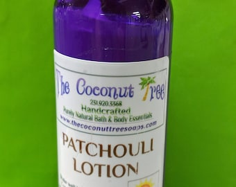 Patchouli Body Lotion / Body Lotion / All Natural / Coconut Lotion / face lotion / Sun Protection