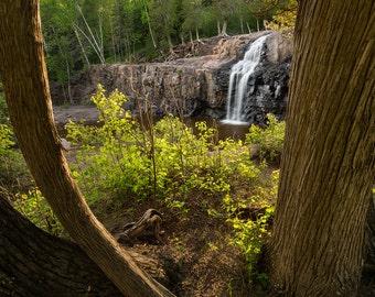 Minnesota Photography, Gooseberry Falls, Landscape Nature Photography, Waterfall Photography, Forest Photography