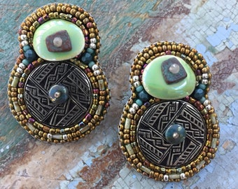Tusayan Bowl Design Earrings