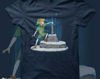 Sword in the temple - Link - Zelda - Nintendo - Disney - T shirt