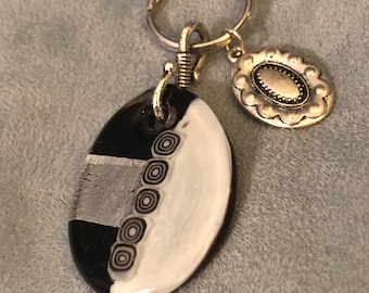 Black and white keychain