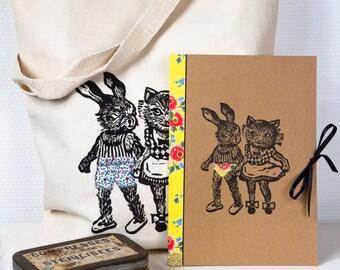 Set de cadeau coquin et original CAHIER & TOTE BAG/ cadeau pour meilleure amie/ idée cadeau décalée