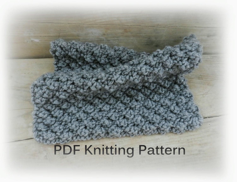 PDF Knitting Pattern, Easy knit blanket Gray Knit Baby Blanket ...