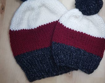 Mother & baby/child knitted hat