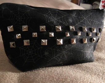Studded Spider Cosmetic Bag