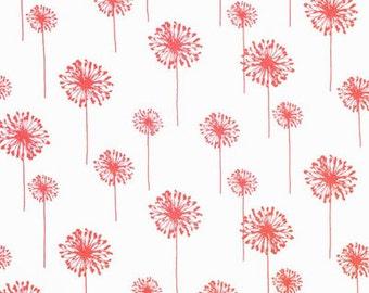Coral Dandelion Crib Sheet | All Cotton Crib Sheet